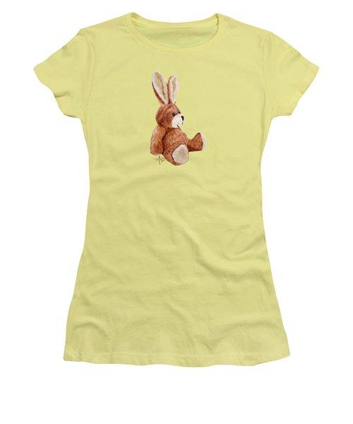 Cuddly Rabbit Women's T-Shirt (Junior Cut) by Angeles M Pomata