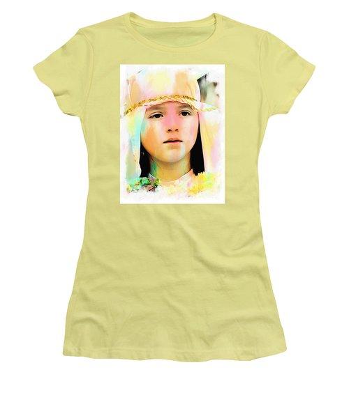 Women's T-Shirt (Junior Cut) featuring the photograph Cuenca Kids 899 by Al Bourassa