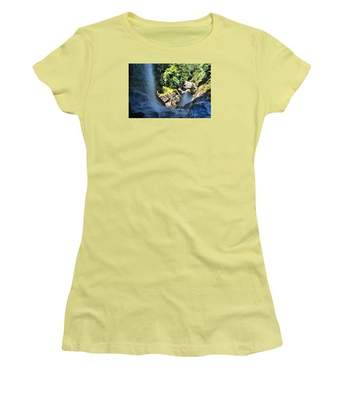 Cullasaja Falls Lookout Women's T-Shirt (Athletic Fit)
