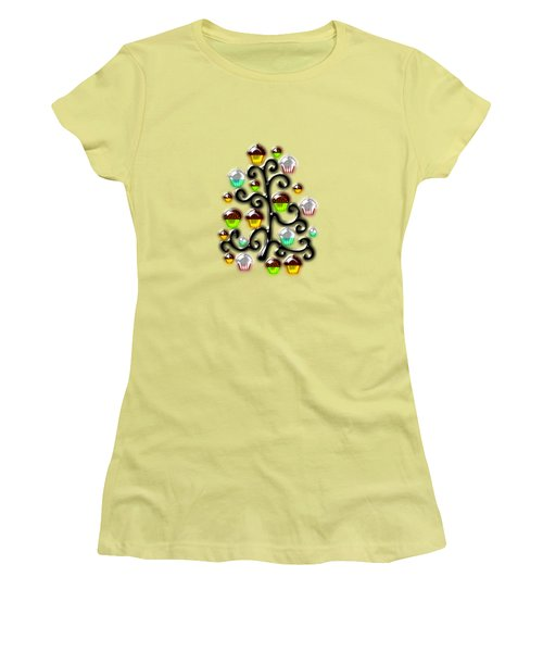 Cupcake Glass Tree Women's T-Shirt (Junior Cut) by Anastasiya Malakhova
