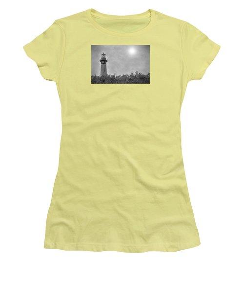 Currituck Lighthouse Women's T-Shirt (Junior Cut) by Marion Johnson