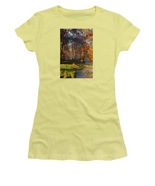 Curry Stream Fall Women's T-Shirt (Athletic Fit)