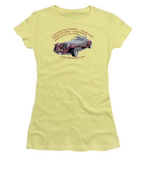 Custom Tee Shirts Women's T-Shirt (Athletic Fit)