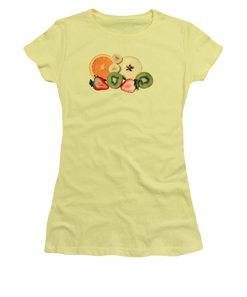 Cut Fruit Women's T-Shirt (Junior Cut) by Shane Bechler