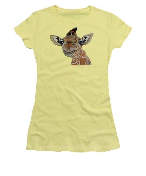 Cute Giraffe Baby Women's T-Shirt (Junior Cut) by M Gilroy
