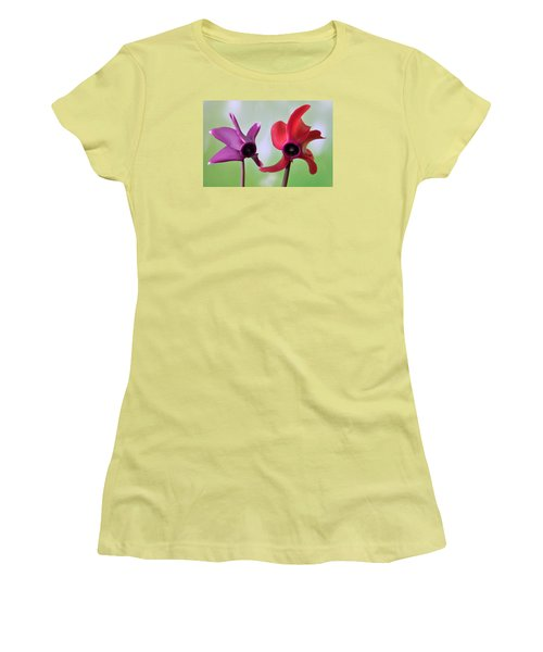 Cyclamen Duet. Women's T-Shirt (Athletic Fit)
