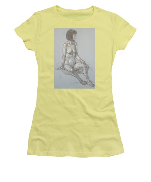 Cynthia Seated From Side Women's T-Shirt (Junior Cut) by Donelli  DiMaria