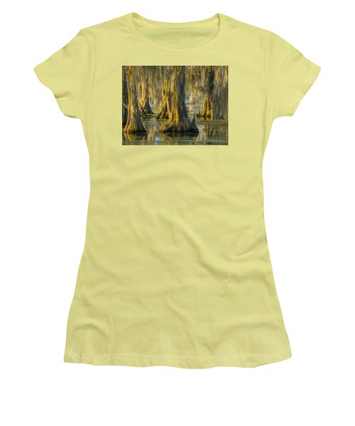 Cypress Canopy Uncovered Women's T-Shirt (Junior Cut) by Kimo Fernandez