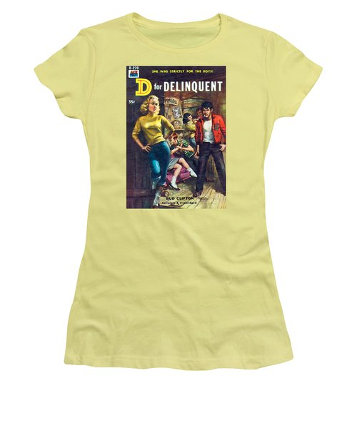 D For Delinquent Women's T-Shirt (Junior Cut) by Rudy Nappi