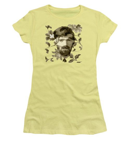 D H Lawrence Women's T-Shirt (Junior Cut) by Asok Mukhopadhyay