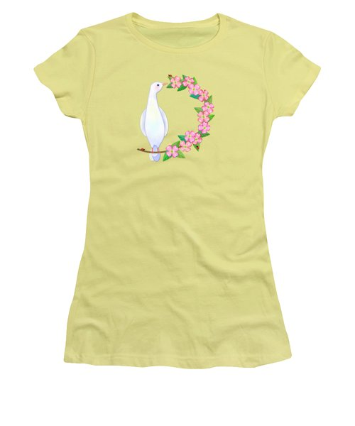 D Is For Dove And Dogwood Women's T-Shirt (Junior Cut) by Valerie Drake Lesiak