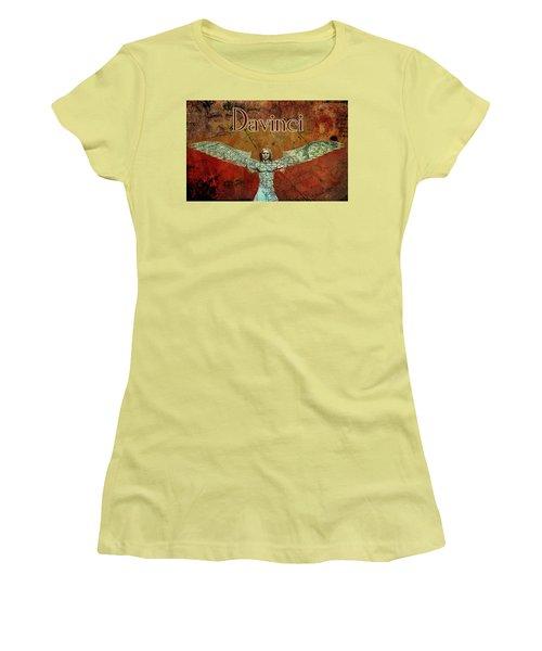 Women's T-Shirt (Junior Cut) featuring the digital art da Vinci 2023 by Greg Sharpe