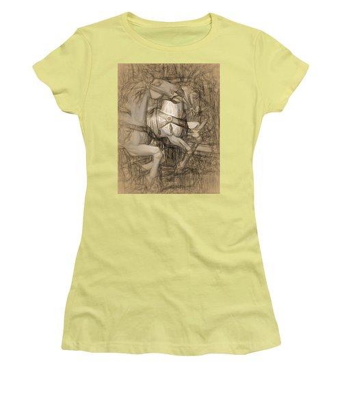 Da Vinci Carousel Women's T-Shirt (Athletic Fit)