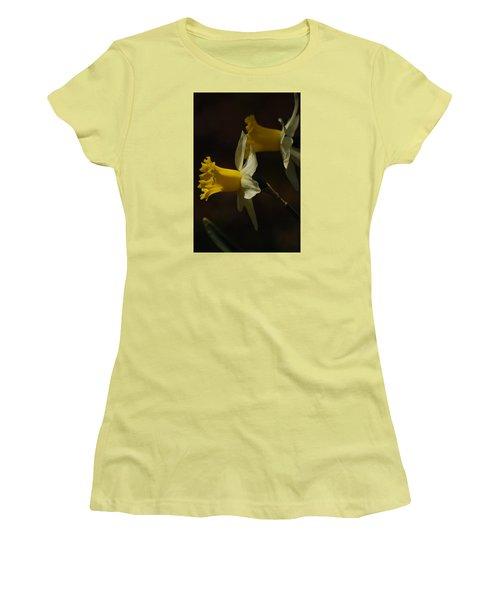 Women's T-Shirt (Junior Cut) featuring the photograph Daffodil by Ramona Whiteaker