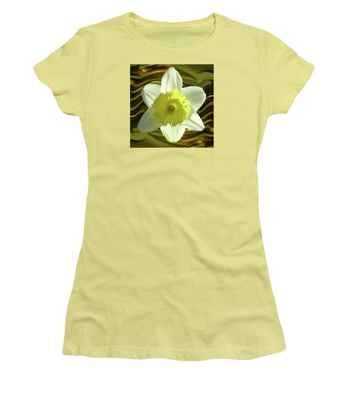 Daffodil Swirl Women's T-Shirt (Athletic Fit)