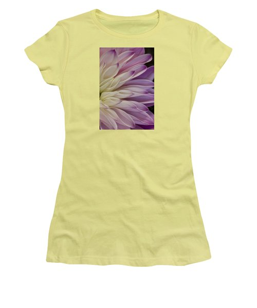 Dahlia Petals 2 Women's T-Shirt (Athletic Fit)