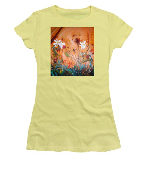 Daisies Along The Fence Women's T-Shirt (Athletic Fit)