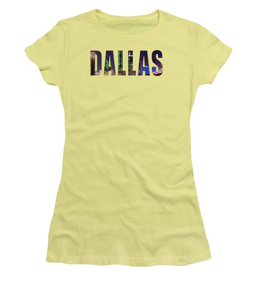 Dallas Letters Transparency 013018 Women's T-Shirt (Athletic Fit)