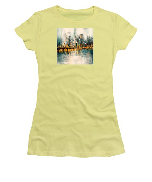Dallas Skyline 217 3 Women's T-Shirt (Junior Cut) by Mawra Tahreem