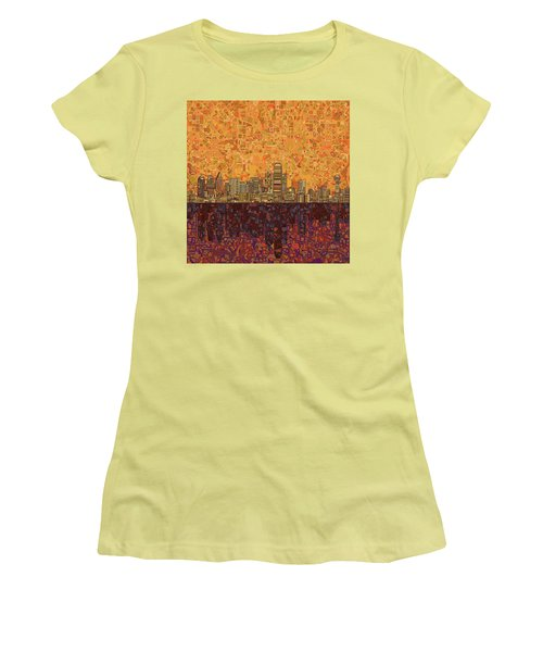 Dallas Skyline Abstract Women's T-Shirt (Athletic Fit)
