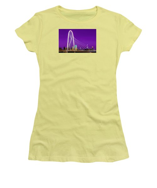 Dallas Skyline Purple Women's T-Shirt (Athletic Fit)