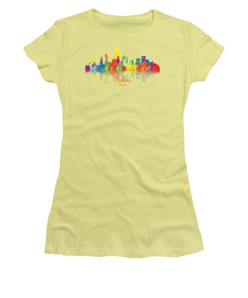 Dallas Texas Tshirts And Accessories Art Women's T-Shirt (Junior Cut) by Loretta Luglio
