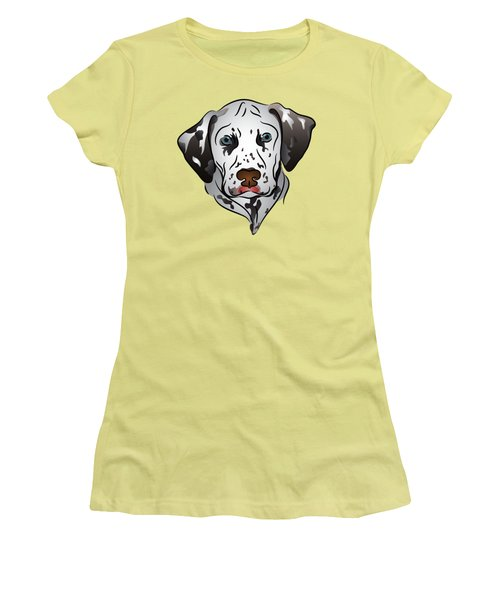 Dalmatian Portrait Women's T-Shirt (Junior Cut) by MM Anderson