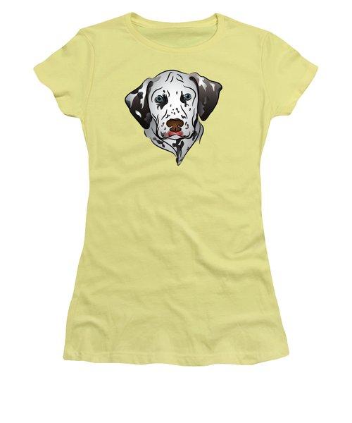 Women's T-Shirt (Junior Cut) featuring the digital art Dalmatian Portrait by MM Anderson