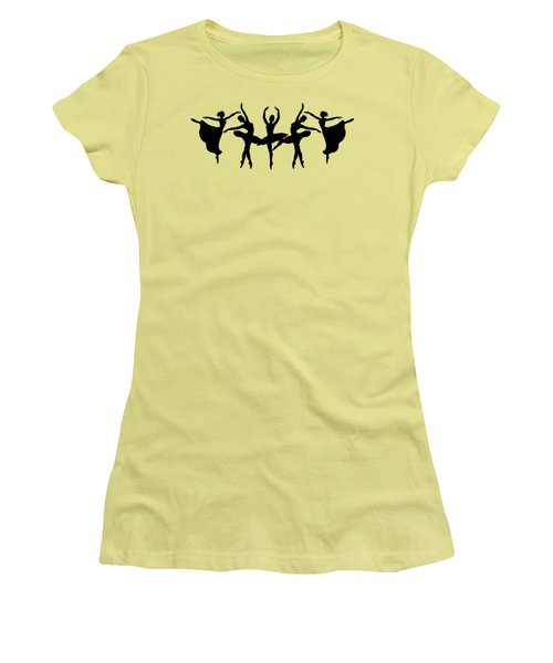 Dancing Ballerinas Silhouette Women's T-Shirt (Athletic Fit)