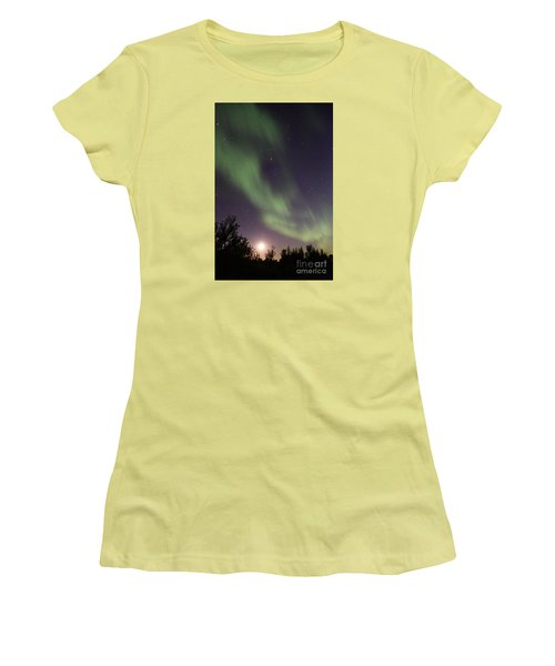 Women's T-Shirt (Junior Cut) featuring the photograph Dancing With The Moon by Larry Ricker