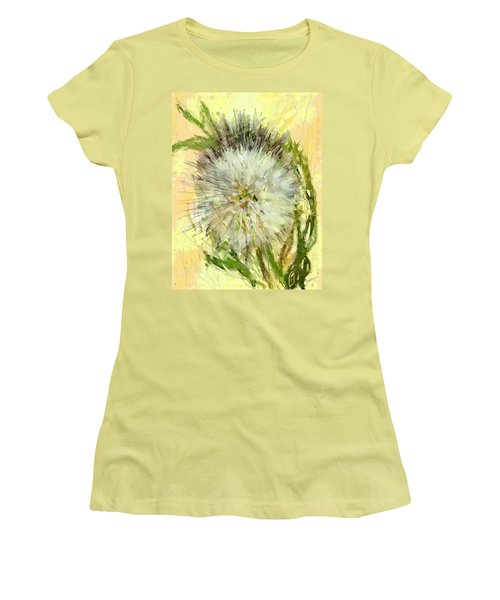 Dandelion Sunshower Women's T-Shirt (Junior Cut) by Desline Vitto