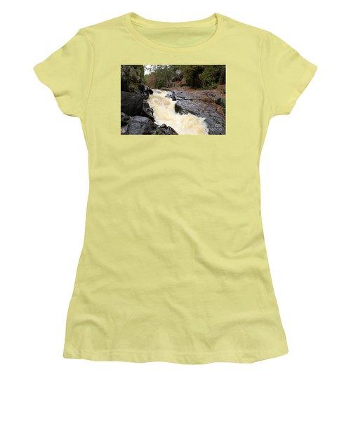 Women's T-Shirt (Junior Cut) featuring the photograph Dave's Falls #7284 by Mark J Seefeldt