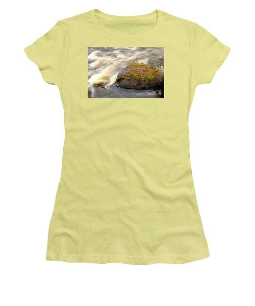 Women's T-Shirt (Junior Cut) featuring the photograph Dave's Falls #7442 by Mark J Seefeldt