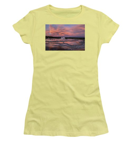 Dawn At Great Fountain Geyser Women's T-Shirt (Athletic Fit)