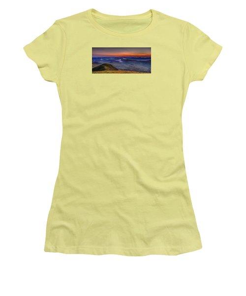 Dawn At The Merrick Summit Women's T-Shirt (Athletic Fit)
