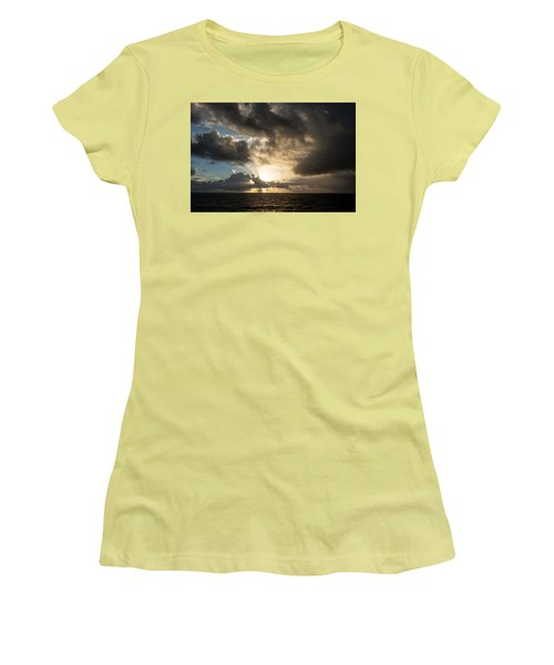 Women's T-Shirt (Junior Cut) featuring the photograph Day Break by Allen Carroll