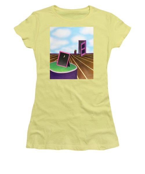 Women's T-Shirt (Junior Cut) featuring the painting Day by Thomas Blood