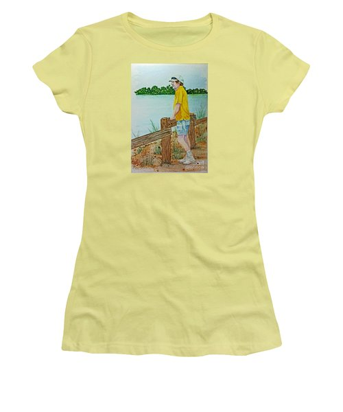 Pondering Women's T-Shirt (Athletic Fit)
