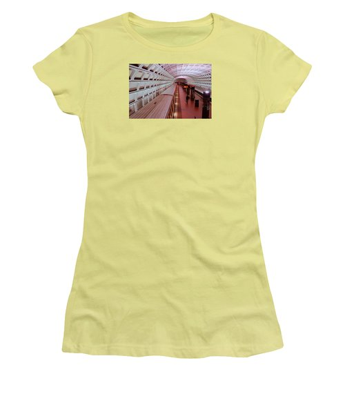 Women's T-Shirt (Junior Cut) featuring the photograph Dc Metro by James Kirkikis