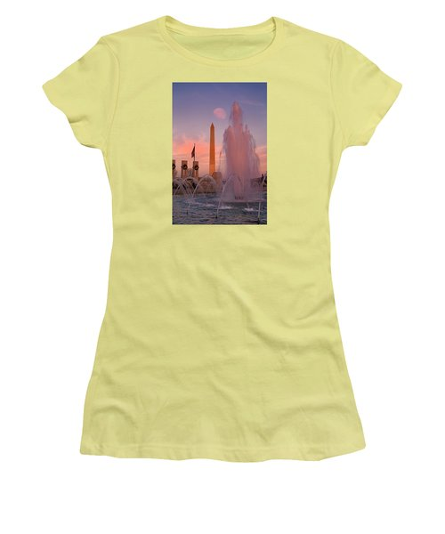 Dc Sunset Women's T-Shirt (Junior Cut) by Betsy Knapp