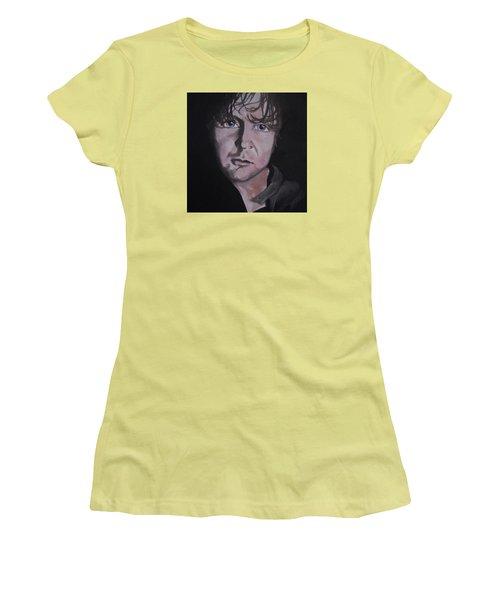 Women's T-Shirt (Junior Cut) featuring the painting Dean Ambrose Portrait by Susan Solak