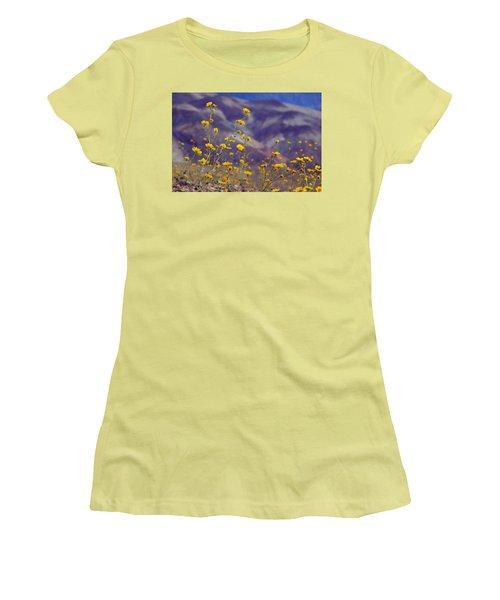 Women's T-Shirt (Junior Cut) featuring the photograph Death Valley Superbloom 103 by Daniel Woodrum
