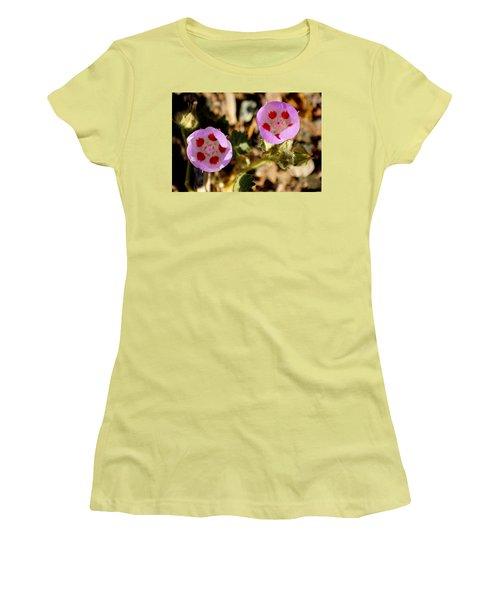 Women's T-Shirt (Junior Cut) featuring the photograph Death Valley Superbloom 105 by Daniel Woodrum