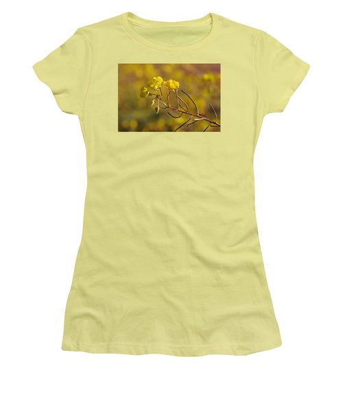 Women's T-Shirt (Junior Cut) featuring the photograph Death Valley Superbloom 301 by Daniel Woodrum