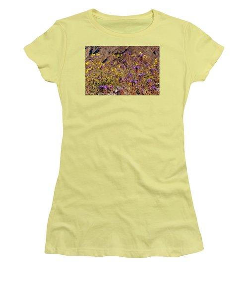 Women's T-Shirt (Junior Cut) featuring the photograph Death Valley Superbloom 401 by Daniel Woodrum