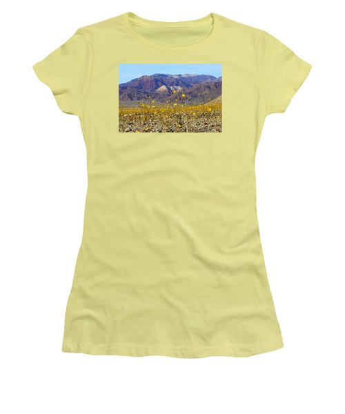 Women's T-Shirt (Junior Cut) featuring the photograph Death Valley Superbloom 405 by Daniel Woodrum