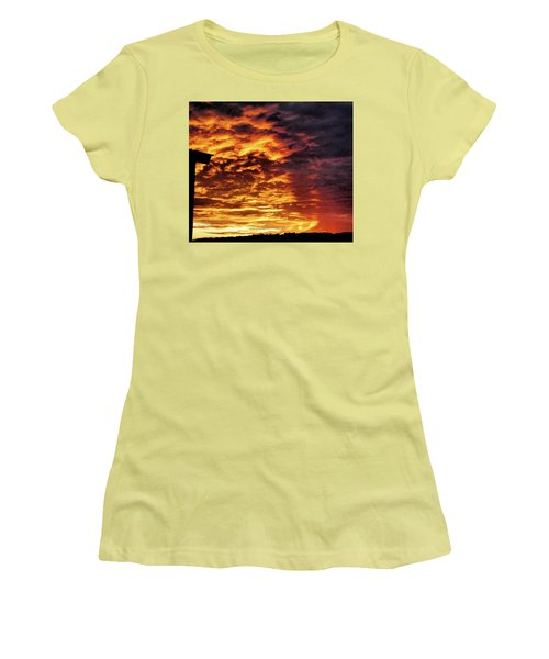 December Austin Sunset  Women's T-Shirt (Junior Cut) by Layne William LoMaglio