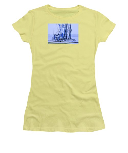 Women's T-Shirt (Junior Cut) featuring the photograph Decked Out In Blue by Laura Ragland