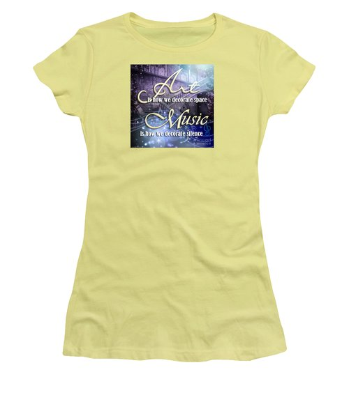 Decorate Women's T-Shirt (Junior Cut) by Evie Cook