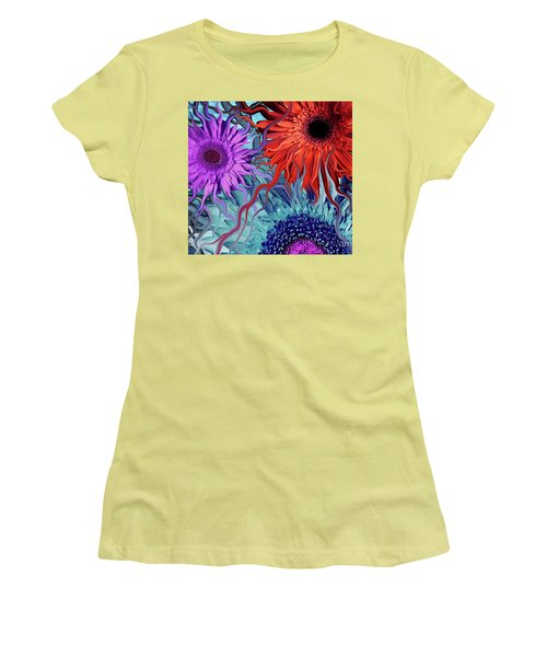 Deep Water Daisy Dance Women's T-Shirt (Athletic Fit)
